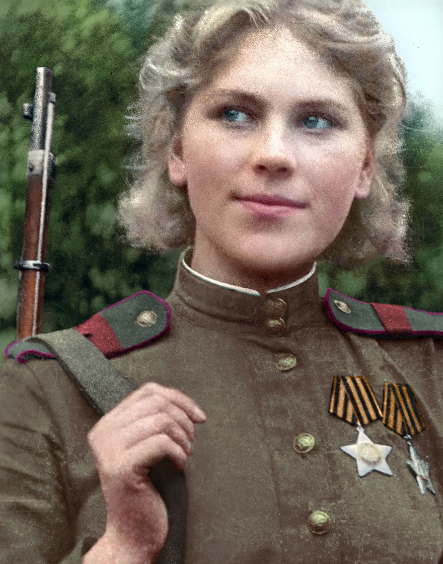 3. Советский снайпер Роза Шанина.