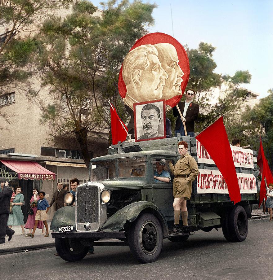 53. Парад в Тель-Авиве, 1947 год.