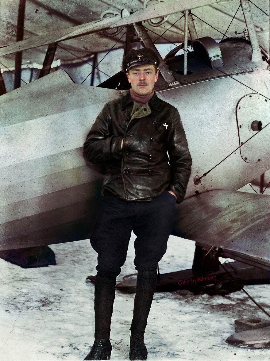63. Российский пилот, Первая мировая война, 1918 год.