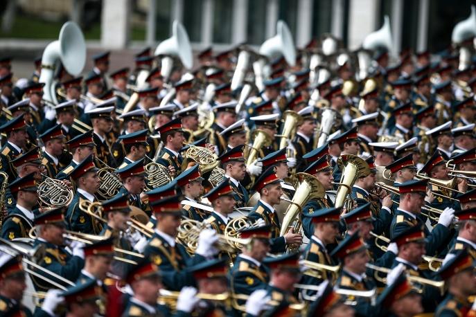 9. Военный оркестр в Алабино.