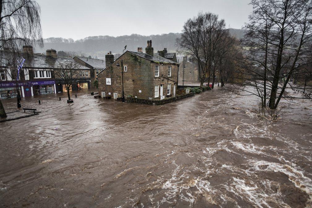 9. Стив Морган. Наводнение в Западном Йоркшире.