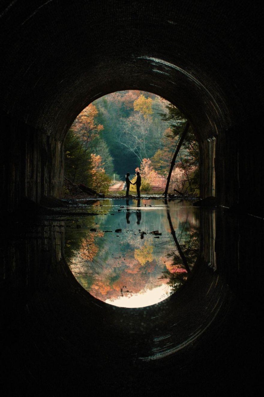 1. Тоннель любви.