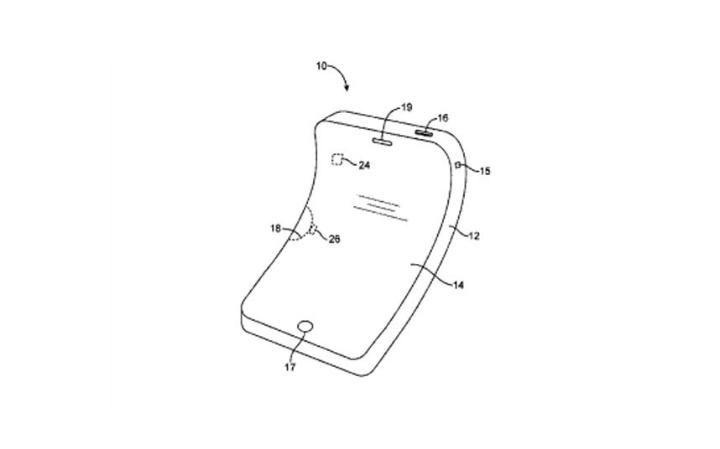 3. Сгибаемый дисплей также был запатентован Apple. Компания планировала создать электронное устройство с гибким дисплеем и корпусом и даже внутренними компонентами.