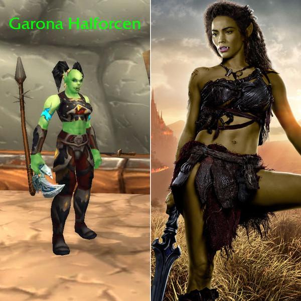 """14. Пола Пэттон - Гарона из """"Warcraft."""