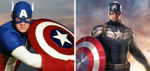 5. Капитан Америка 1990 и 2016.