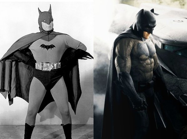 7. Бэтмен 1943 и 2016.