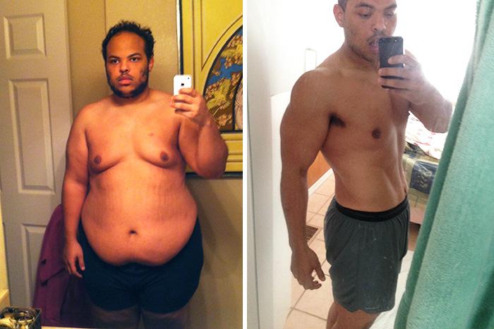 12. Сбросив 68 килограмм за 9 месяцев, этот парень навсегда изменил свою жизнь.
