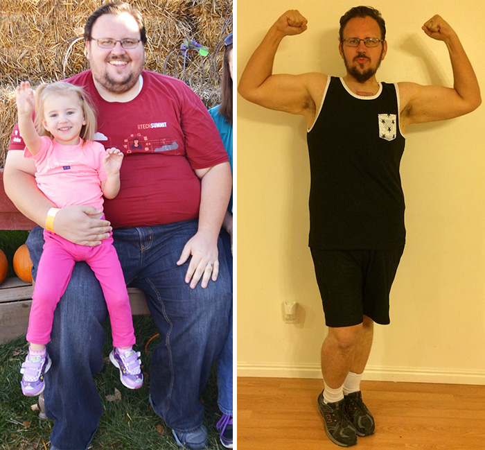 19. Родные, особенно дети, могут по-настоящему вдохновлять нас. Мужчина сбросил целую сотню килограмм всего за 8 месяцев.