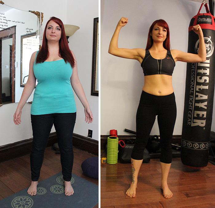 24. Девушка сделала свой выбор в пользу здорового образа жизни, и наконец-то почувствовала себя собой настоящей. Минус 21 кг за год.
