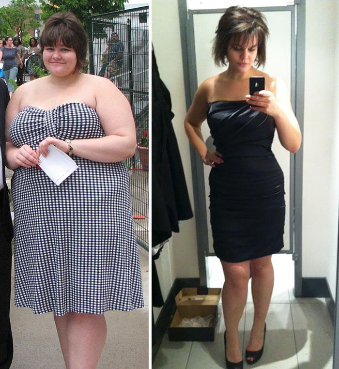 5. Эта девушка сумела сбросить 60 кг за год и пять месяцев.