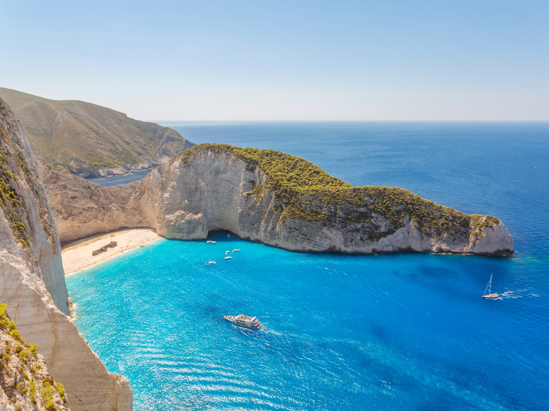 3. Пляж Наваджио, остров Закинтос, Греция.
