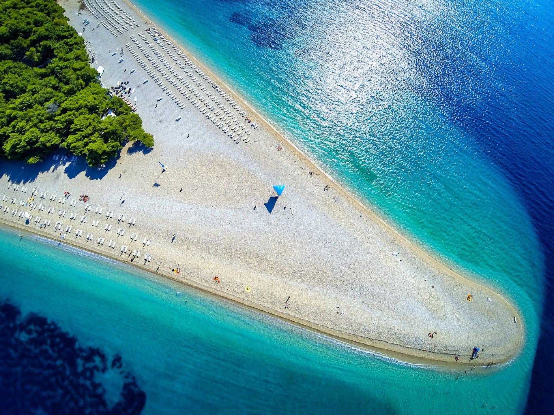 6. Пляж Золотой Рог, остров Брач, Хорватия.