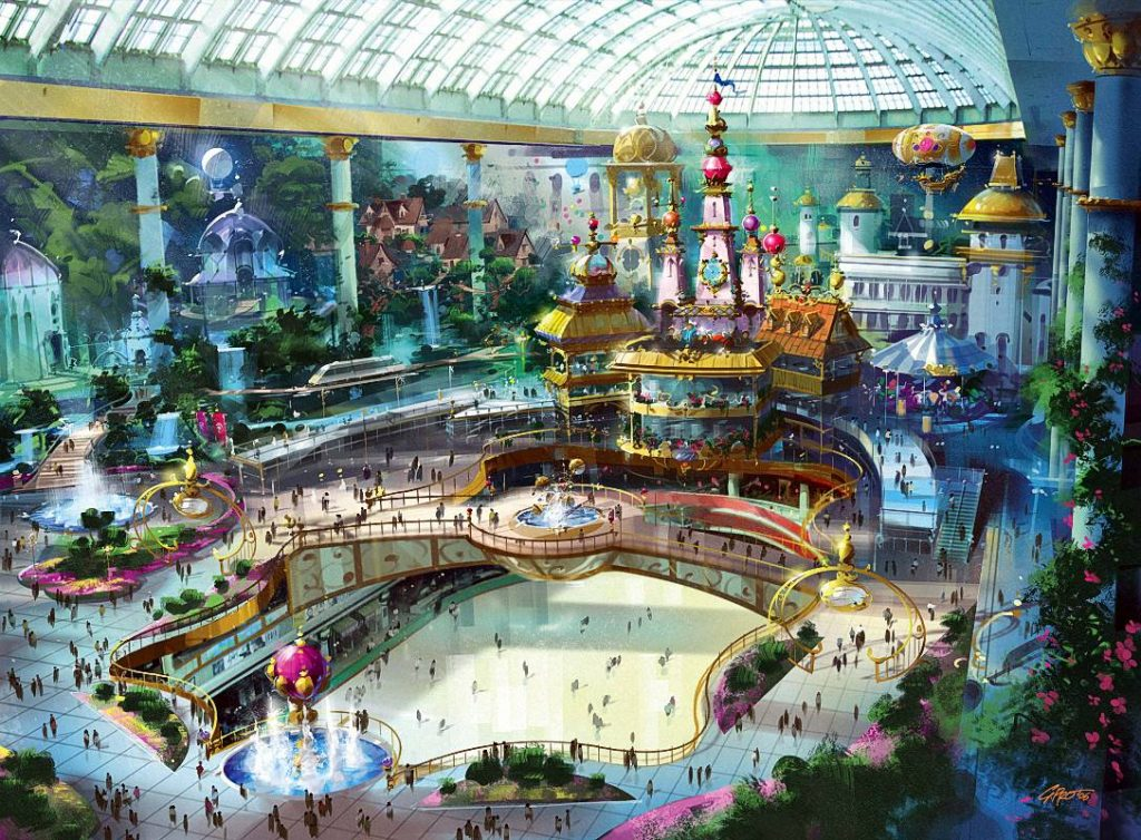 4. Парк Lotte World (Сеул, Южная Корея).