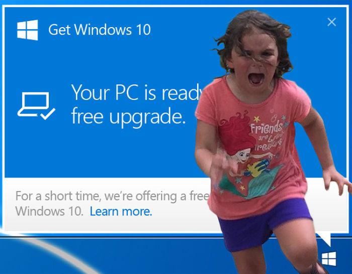 13. Когда предлагают обновиться до Windows 10.