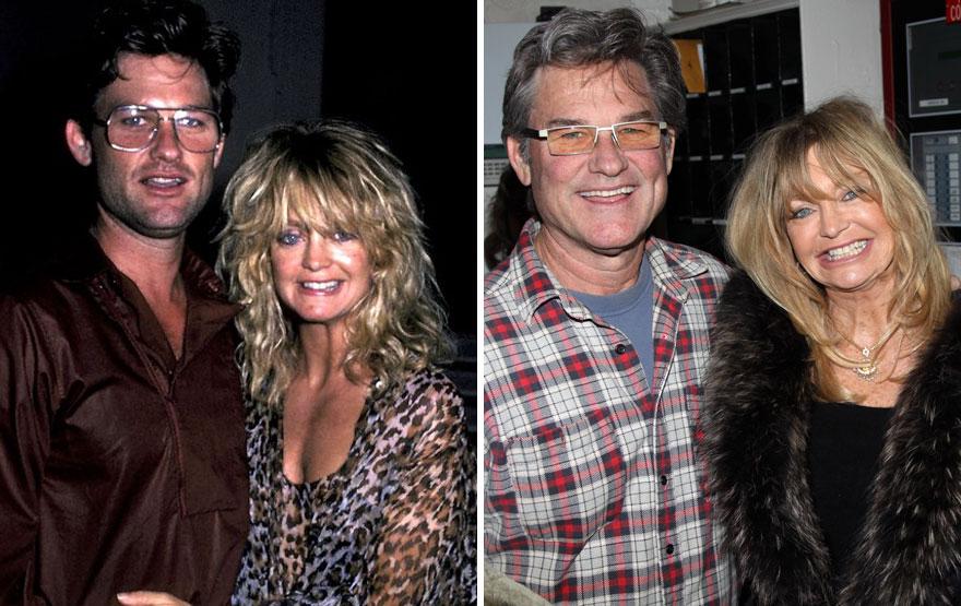 9. Голди Хоун и Курт Рассел - 33 года вместе.