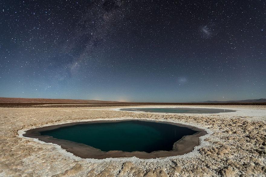 7. Третье место в номинации «Природа»: «Лагуны Балтиначе», пустыня Атакама, Антофагаста, Чили.