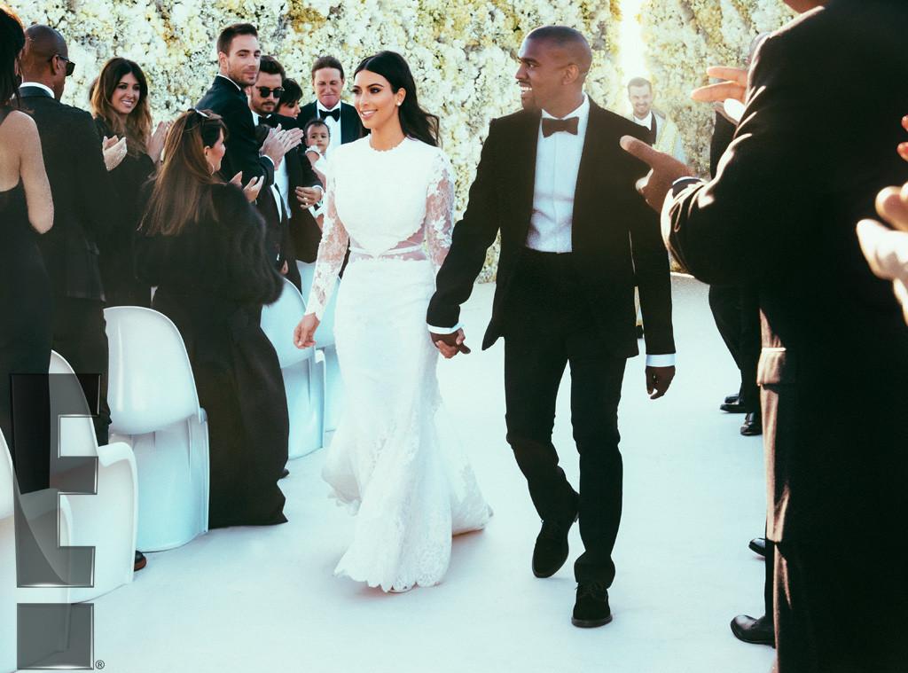 6. Ким Кардашьян и Канье Уэст ($ 30 млн). Одно только платье невесты обошлось в 500 тысяч долларов.