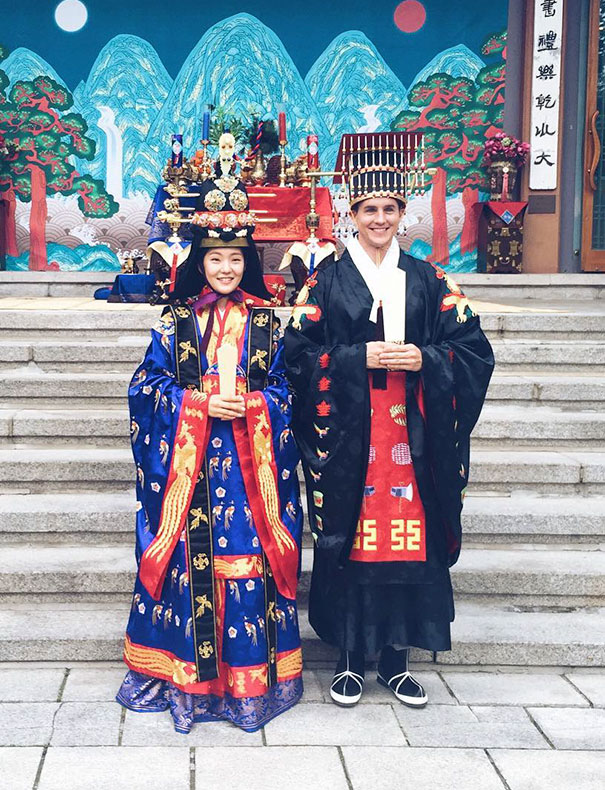 13. Свадебные наряды в Корее.