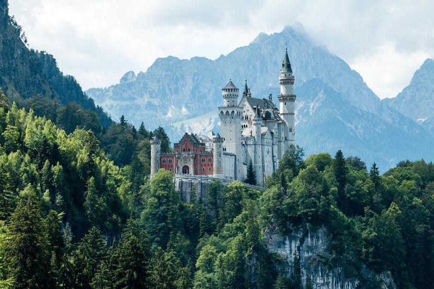 1. Замок Нойшванштайн, Германия.