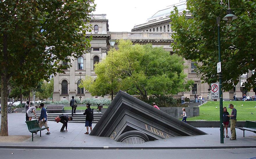 12. Тонущая библиотека, Мельбурн, Австралия.
