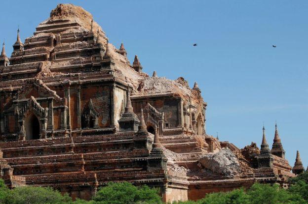 3. Был поврежден храм Sulamani.