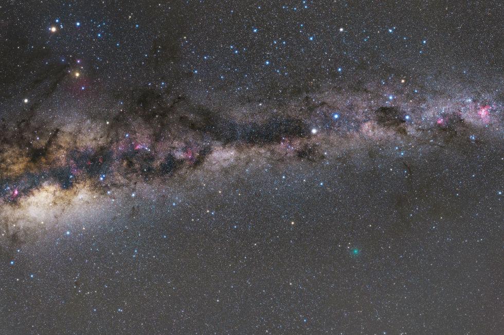 8. «Кометы, планеты и Млечный Путь».