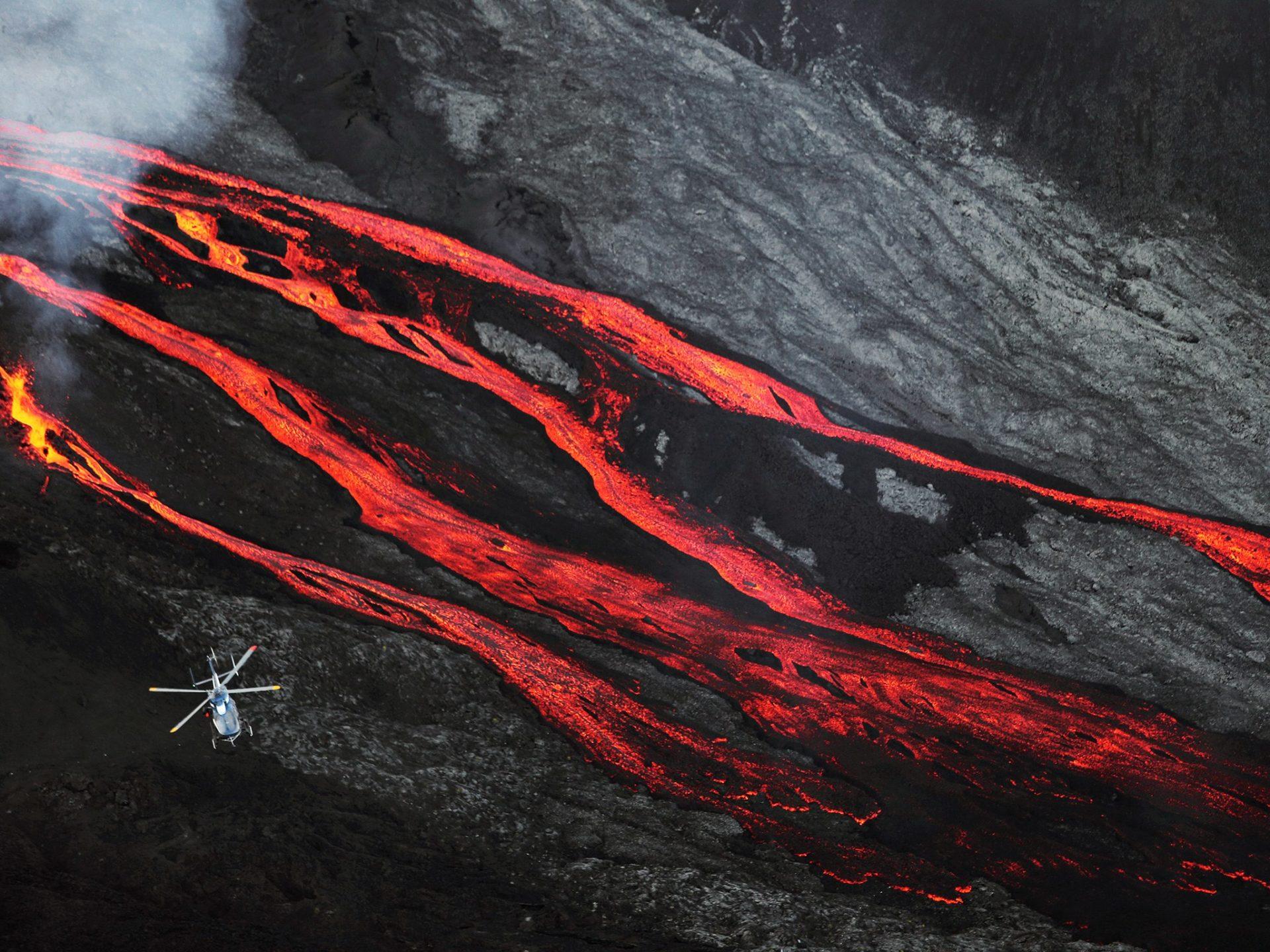 14. Вулкан Питон-де-ла-Фурнез, остров Реюньон.