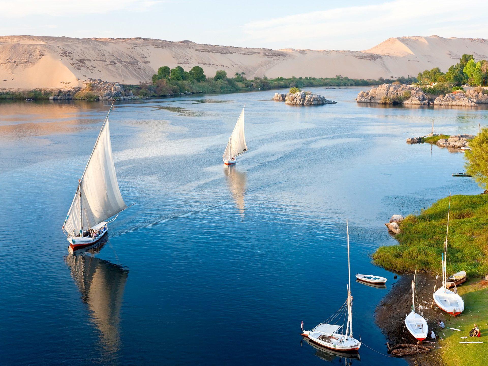 5. Река Нил, Асуан, Египет.