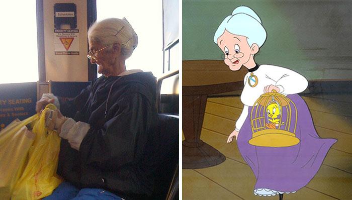4. Бабушка из Looney Tunes.