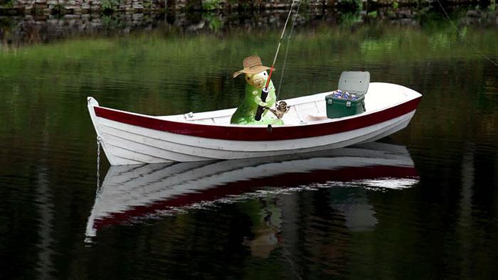 2. Отличный день на рыбалке.