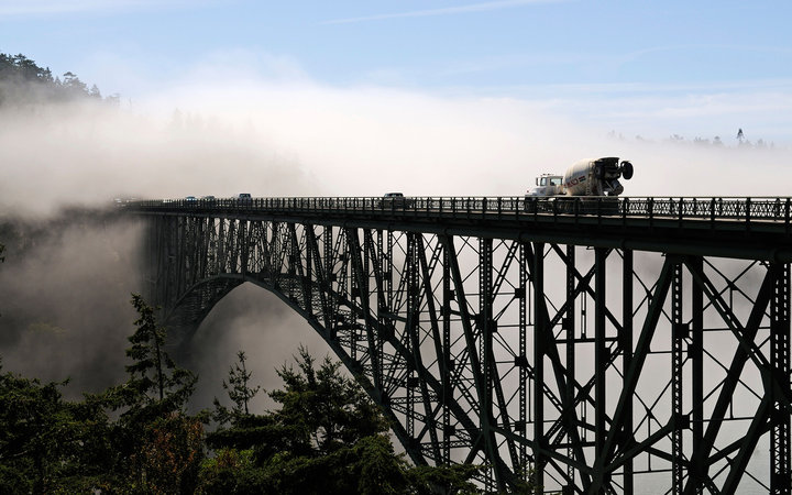 7. Мост Deception Pass, Вашингтон, США.