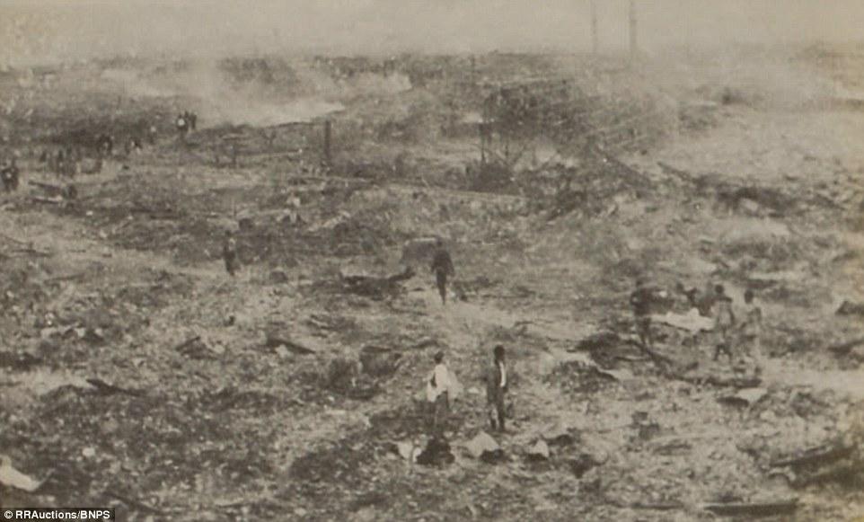 4. Перед Ямахата была поставлена задача задокументировать разрушения сделанные атомной бомбой.