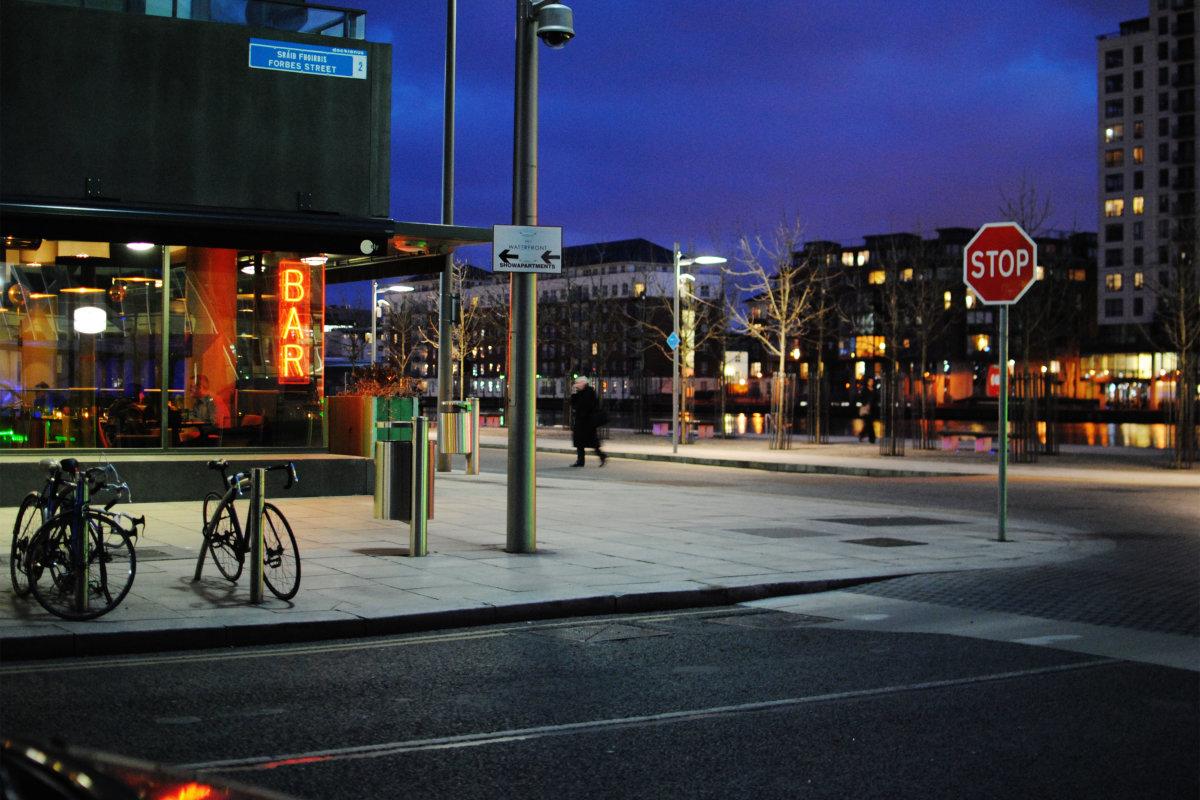 3. Форбс-стрит в Дублине, столице Ирландии.