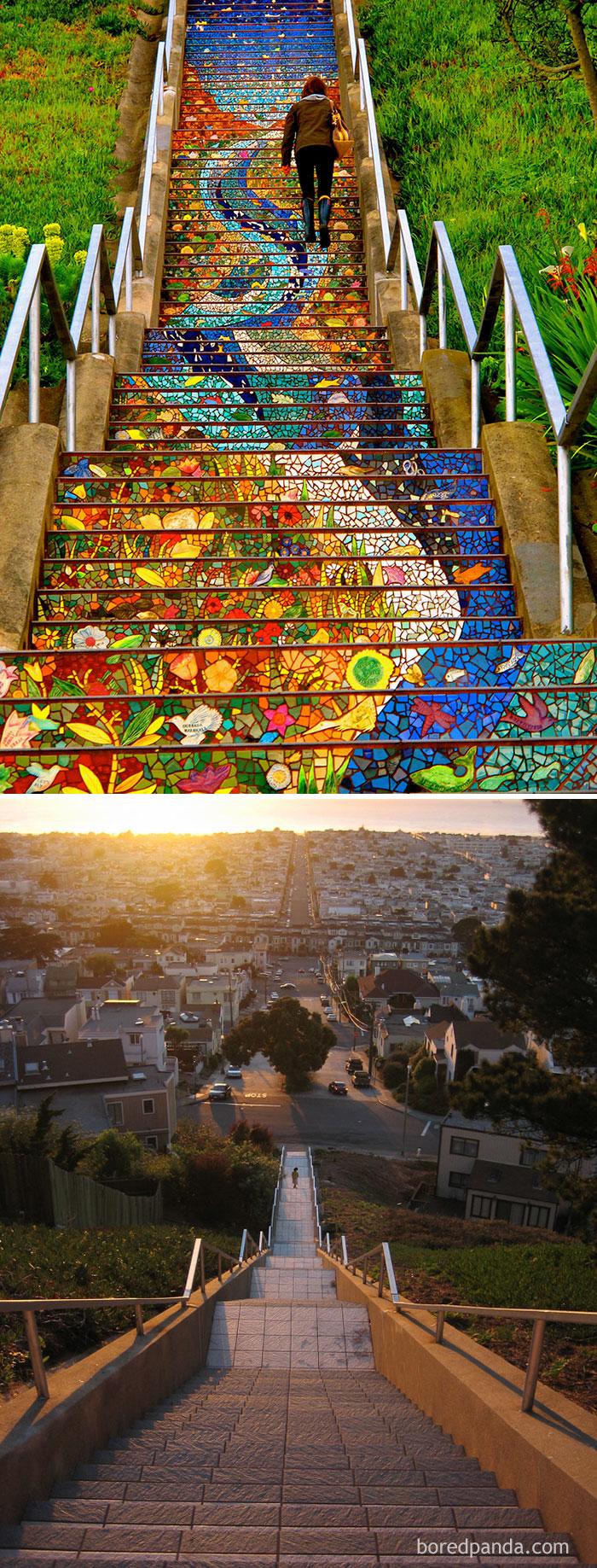 10. Лестница в Сан-Франциско, Калифорния.