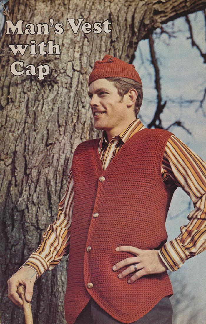 12. Удачное сочетание жилета и шапочки.