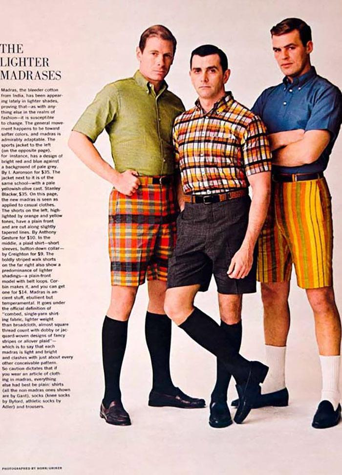 15. Шорты носили с высокими носками или гольфами.