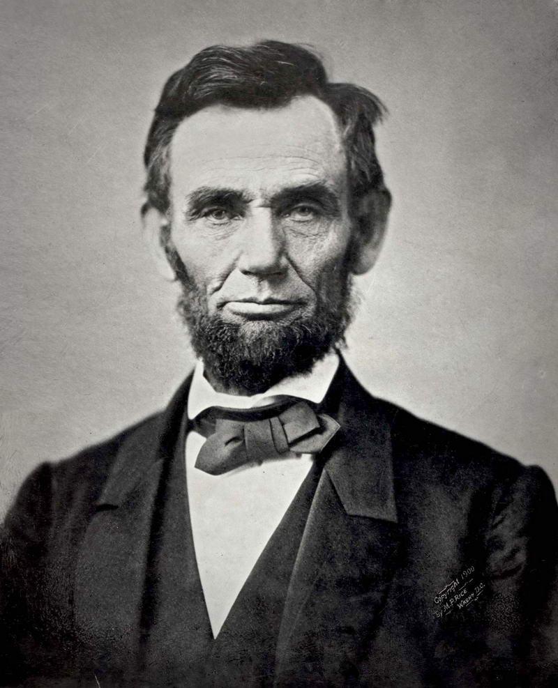8. Авраам Линкольн, 1863 год.
