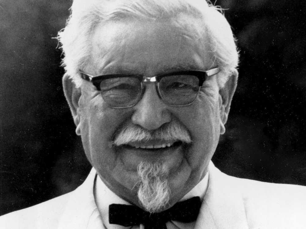 5. Основатель KFC полковник Харланд Сандерс Дэвид был уволен с десятка рабочих мест, пока не основал свою фаст-фуд империю.