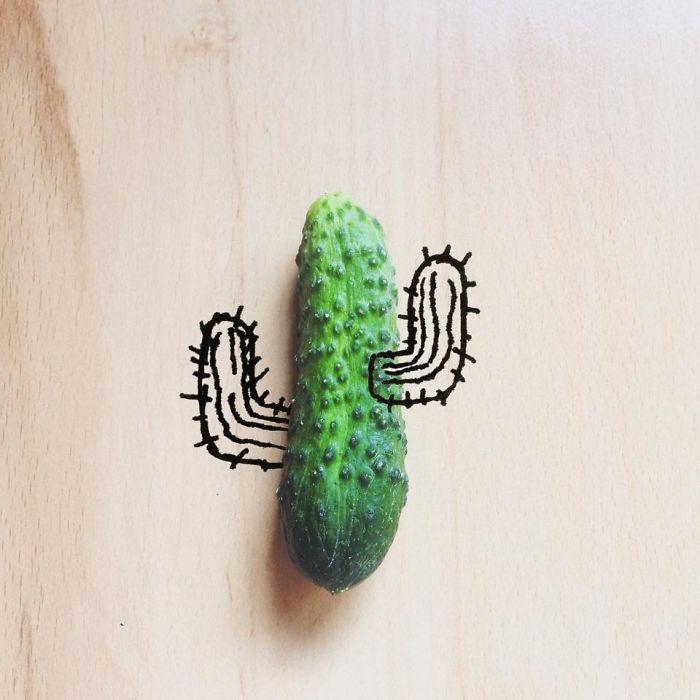 10. Огурец-кактус.