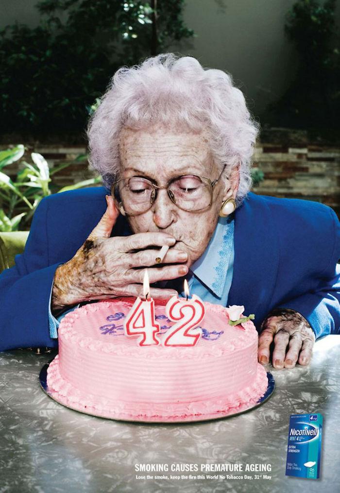 4. Курение вызывает преждевременное старение.