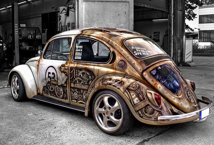1. Volkswagen Beetle в стиле стимпанк.