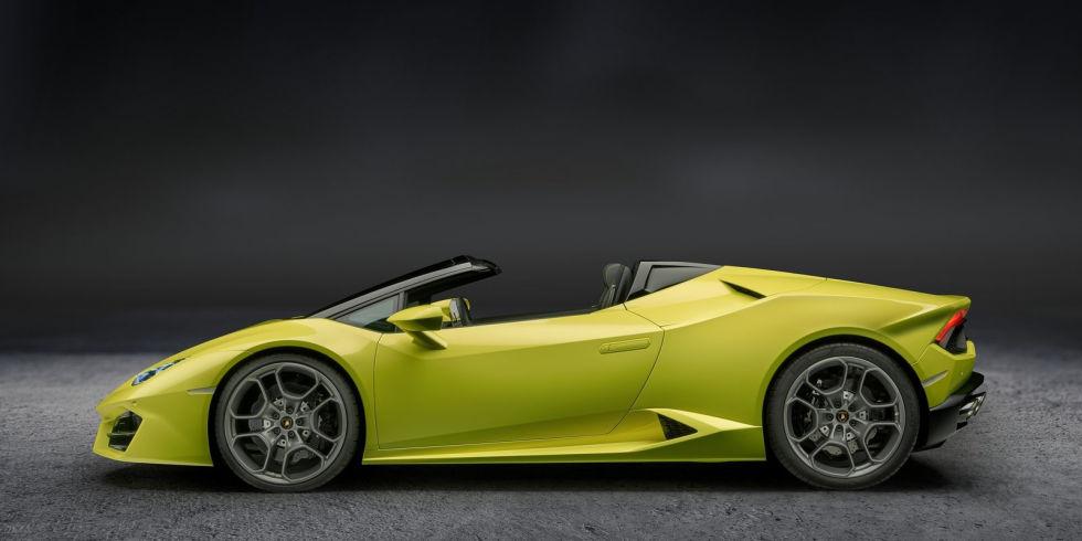 8. Lamborghini Hurracan Rear-Wheel-Drive Spyder.