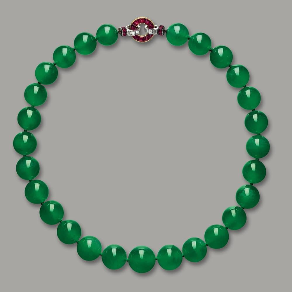 9. Ожерелье Hutton-Mdivani Jadeite. $27,4 млн.