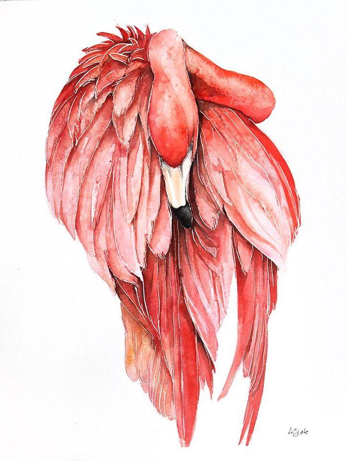 4. Розовый фламинго.