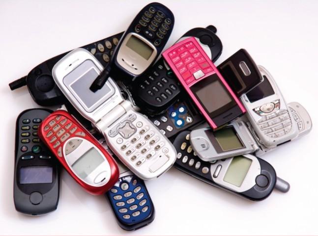 3. Мобильные телефоны тогда.