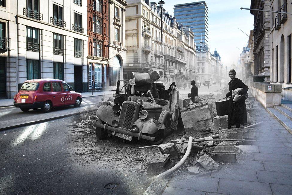 5. Май. Архив Getty Images – это более 100 миллионов фотографий разного времени. Данные коллажи были сделаны к 75-летию окончания бомбардировки Блиц (бомбардировка Великобритании нацистской Германией).