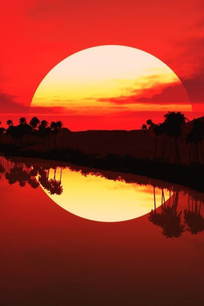 10. Огромное солнце.
