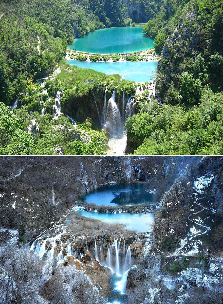 11. Национальный парк Плитвицкие озера, Хорватия.