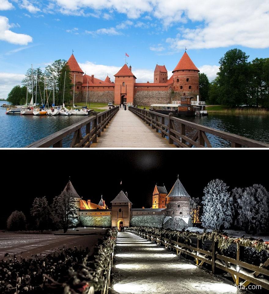 18. Тракайский замок, Литва.