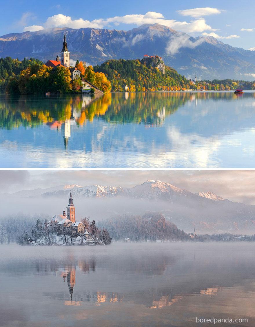 3. Озеро Блед, Словения.